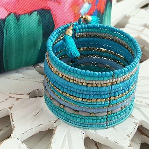 Boho Beaded Wide Wire Cuff Bracelet BP Nordstrom